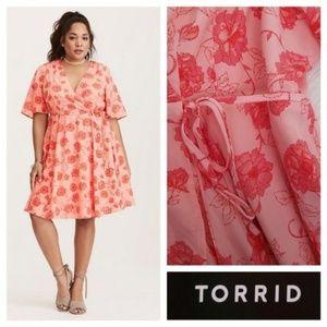 *New Torrid Floral Print Georgette Dress Size 22